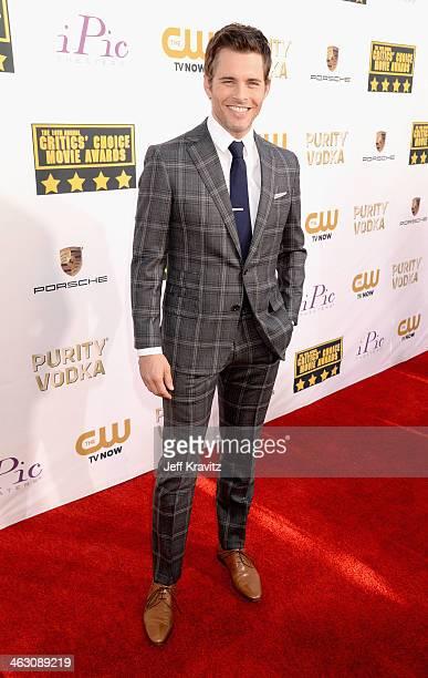 Actor James Marsden attends the 19th Annual Critics' Choice Movie Awards at Barker Hangar on January 16 2014 in Santa Monica California