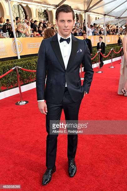 Actor James Marsden attends the 20th Annual Screen Actors Guild Awards at The Shrine Auditorium on January 18 2014 in Los Angeles California