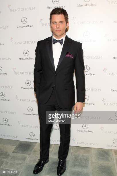 Actor James Marsden attends The Art of Elysium's 7th Annual HEAVEN Gala presented by MercedesBenz at Skirball Cultural Center on January 11 2014 in...