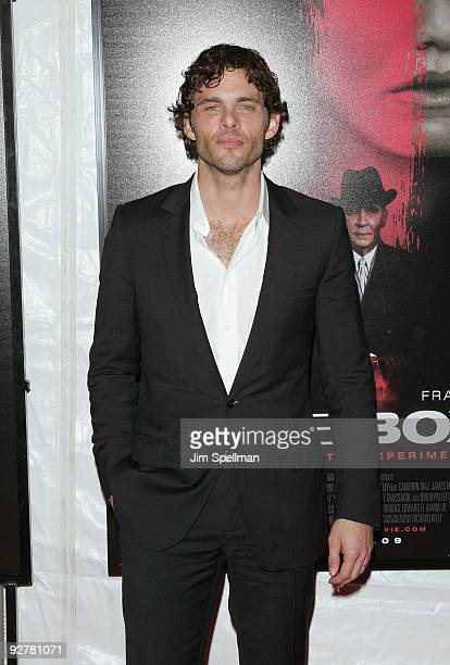 Actor James Marsden attends The Box New York premiere at the AMC Lincoln Square on November 4 2009 in New York City