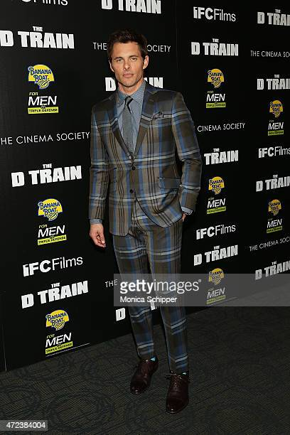 Actor James Marsden attends The Cinema Society Banana Boat host the New York premiere of IFC Films' The D Train at Sunshine Landmark on May 6 2015 in...