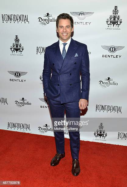 Actor James Marsden attends the launch party for Los Angeles Confidential Magazine's October 'Men's Issue' at Unici Casa Gallery on October 23 2014...