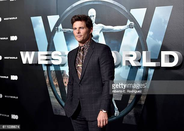 Actor James Marsden attends the premiere of HBO's 'Westworld' at TCL Chinese Theatre on September 28 2016 in Hollywood California