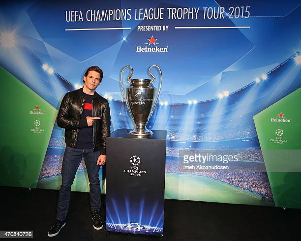 Actor James Marsden attends The UEFA Champions League Trophy Tour presented by Heineken on April 20 2015 in Los Angeles California