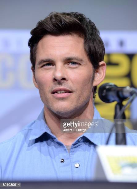 Actor James Marsden attends the 'Westworld' panel and QA Session during ComicCon International 2017 at San Diego Convention Center on July 22 2017 in...