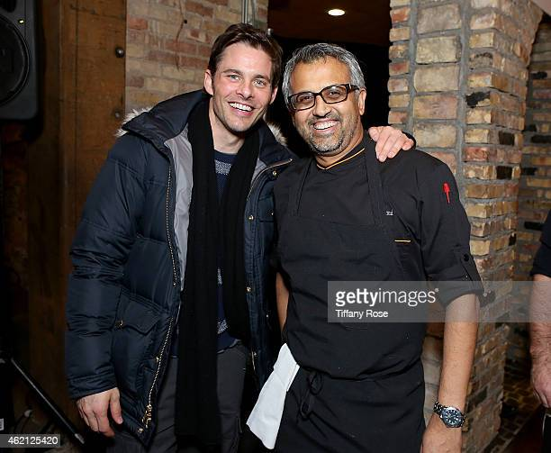 Actor James Marsden chef Parind Vora attends ChefDance 2015 Presented By Victory Ranch And Sponsored By Merrill Lynch, Freixenet And Anchor...