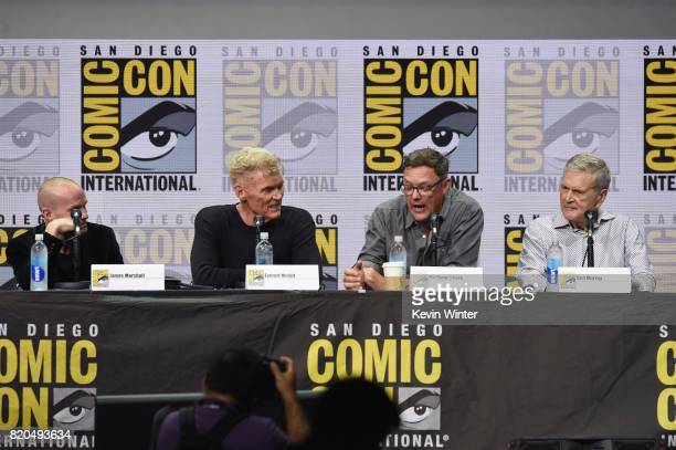 Actor James Marshall Everett McGill Matthew Lillard and Don Murray attend 'Twin Peaks A Damn Good Panel' during ComicCon International 2017 at San...