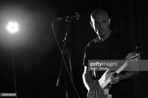 Actor James Marshall who played the character of James Hurley on the TV series Twin Peaks sings and plays the guitar during the Twin Peaks UK...