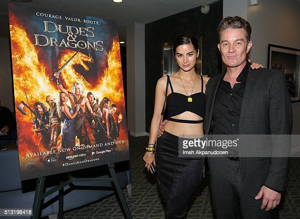Actor James Marsters and wife actress Jasmin Marsters attend the premiere of Samuel Goldwyn Films' 'Dudes And Dragons' at Harmony Gold on February 29...