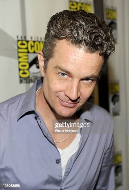 Actor James Marsters attends 'Caprica' Press Room during ComicCon 2010 at San Diego Convention Center on July 23 2010 in San Diego California
