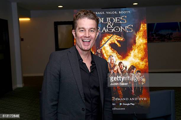 Actor James Marsters attends the premiere of Samuel Goldwyn Films' 'Dudes And Dragons' at Harmony Gold on February 29 2016 in Los Angeles California