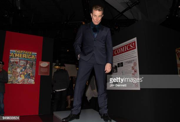 Actor James Marsters stands tall on opening night at the Marvel Universe of Super Heroes exhibit at MoPop on April 20 2018 in Seattle Washington