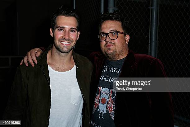 Actor James Maslow and executive producer John Ryan attend the after party for the opening night of Sir Arthur Conan Doyle's Sherlock Holmes at The...