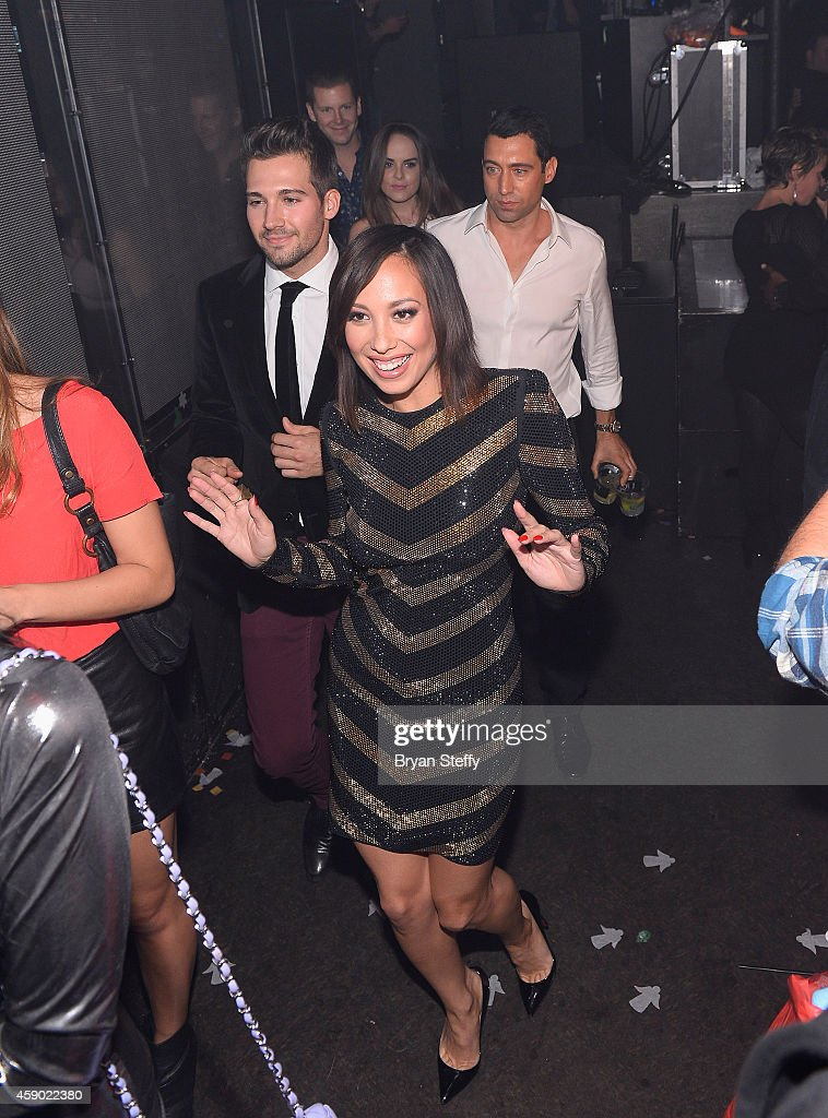 Cheryl Burke, James Maslow & Chris Zylka Join iHeart Radio For A Special Recording Of The Melting Pot From Light Nightclub : News Photo