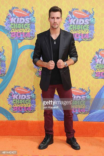 Actor James Maslow arrives at Nickelodeon's 27th Annual Kids' Choice Awards at USC Galen Center on March 29 2014 in Los Angeles California