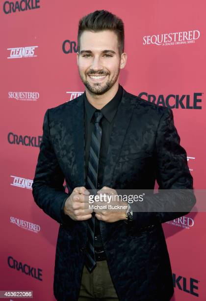 Actor James Maslow attends Crackle Presents Summer Premieres Event for originals 'Sequestered' and 'Cleaners' at 1 OAK on August 14 2014 in West...