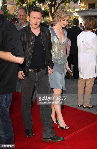 Actor James McAvoy and AnneMarie Duff arrive to the Wanted premiere on the opening night of the 2008 Los Angeles Film Festival in Westwood California...
