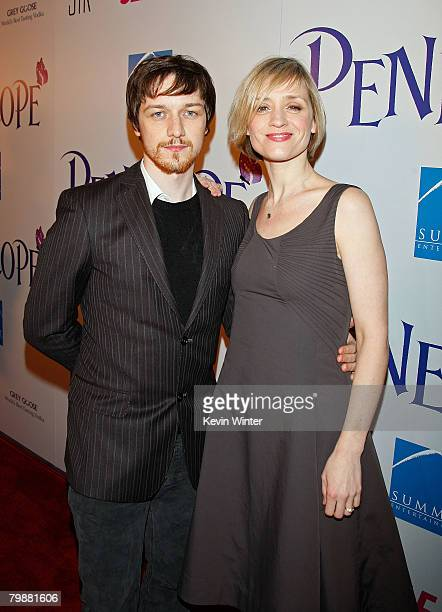 Actor James McAvoy and wife actress AnneMarie Duff arrive at the premiere of Summit Entertainment's Penelope held at the Director's Guild of America...