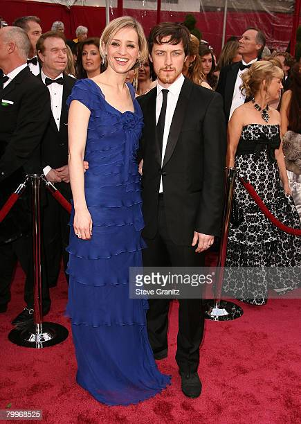 Actor James McAvoy and wife Anne-Marie Duff attend the 80th Annual Academy Awards at the Kodak Theatre on February 24, 2008 in Los Angeles,...