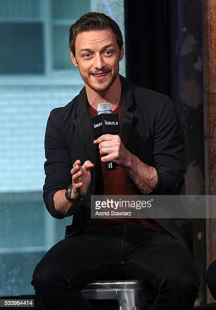 Actor James McAvoy attends AOL Build Presents The Cast Of 'XMen Apocalypse' at AOL Studios In New York on May 24 2016 in New York City