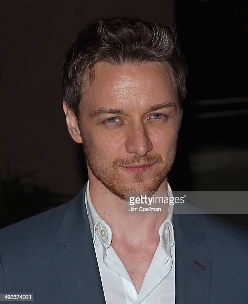 Actor James McAvoy attends Magnolia Pictures with The Cinema Society screening of 'Filth' after party at Jimmy At The James Hotel on May 19 2014 in...