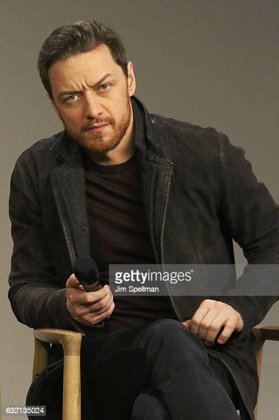 """Actor James McAvoy attends Meet the Actor to discuss """"Split"""" at Apple Store Soho on January 19, 2017 in New York City."""