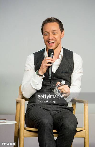 Actor James McAvoy attends Meet the Cast 'XMen Apocalypse' at Apple Store Soho on May 24 2016 in New York City