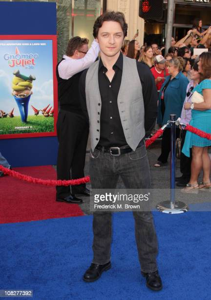 Actor James McAvoy attends the premiere of Touchstone Pictures' 'Gnomeo and Juliet' at the El Capitan Theatre on January 23 2011 in Hollywood...