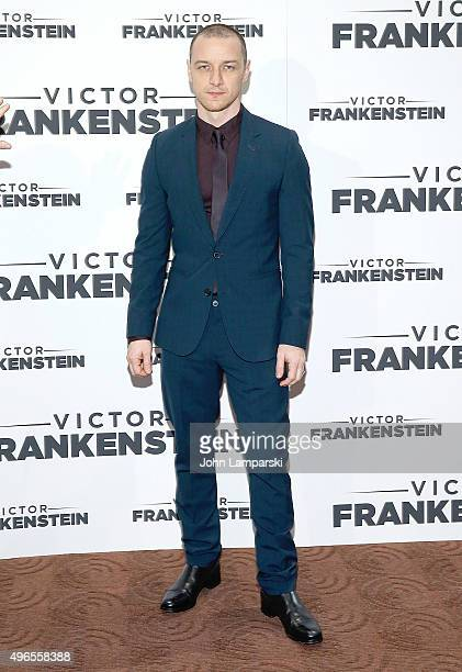 Actor James McAvoy attends 'Victor Frankenstein ' New York premiere at Chelsea Bow Tie Cinemas on November 10 2015 in New York City