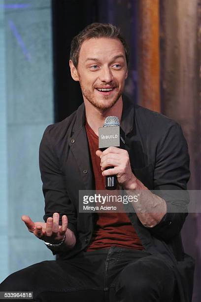 Actor James McAvoy from the movie 'XMen Apocalypse' visits AOL Studios in New York on May 24 2016 in New York City