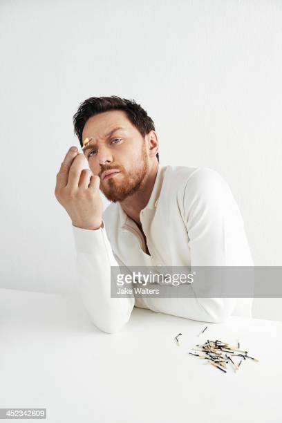 Actor James McAvoy is photographed for the Observer on April 30 2013 in London England