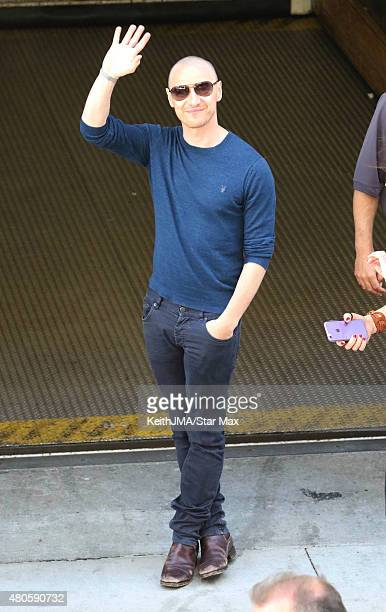 Actor James McAvoy is seen at ComicCon International 2015 on July 12 2015 in San Diego California