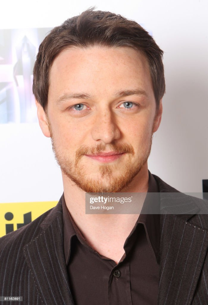 Actor James McAvoy poses in front of the winners' boards at the Britain's Best 2008 Awards at London Television Studios on May 18, 2008 in London, England. The award ceremony honours outstanding Britons in categories including business, art, television, music, film, sport and fashion.