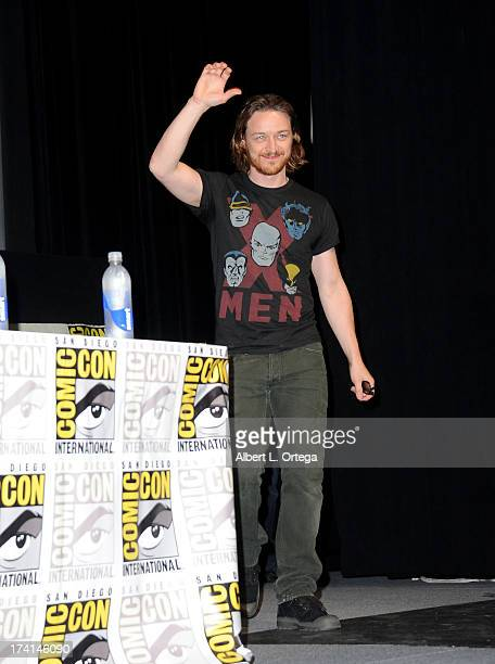Actor James McAvoy speaks at the 20th Century Fox panel during Comic-Con International 2013 at San Diego Convention Center on July 20, 2013 in San...