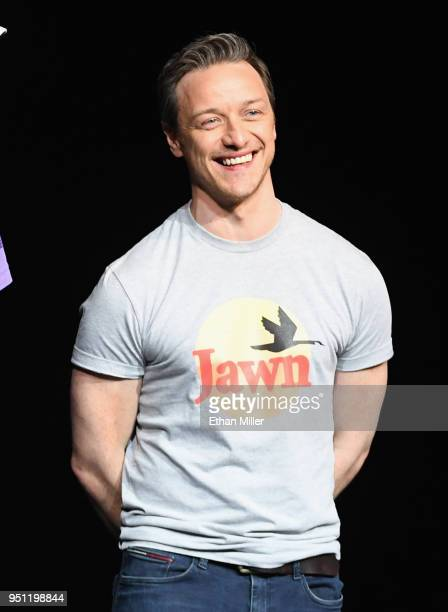 Actor James McAvoy speaks onstage during CinemaCon 2018 Universal Pictures Invites You to a Special Presentation Featuring Footage from its Upcoming...