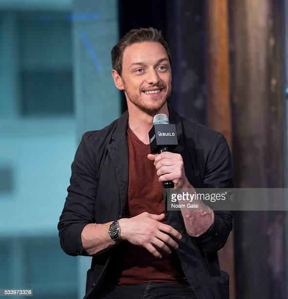 Actor James McAvoy visits AOL Build to discuss 'XMen Apocalypse' at AOL Studios in New York on May 24 2016 in New York City
