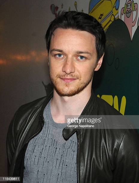 Actor James McAvoy visits MTV's 'TRL' at the MTV Studios in Times Square June 23 2008 in New York City