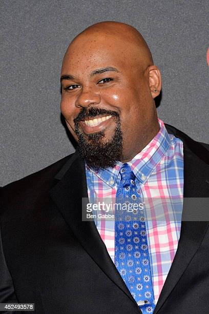 """Actor James Monroe Iglehart attends """"Piece of My Heart: The Bert Berns Story"""" opening night at The Pershing Square Signature Center on July 21, 2014..."""