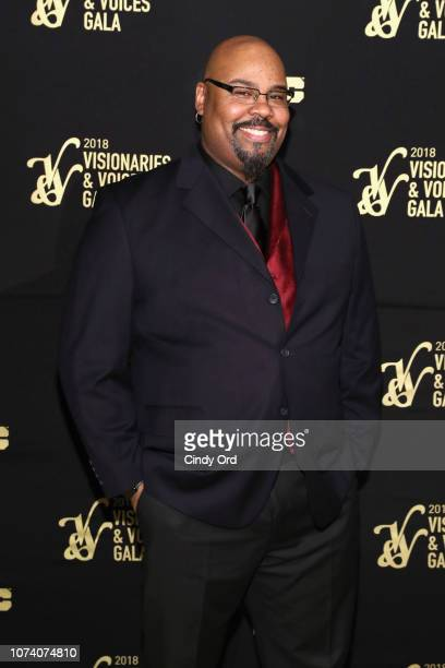 Actor James Monroe Iglehart attends the NYC Company Foundation Visionaries Voices Gala 2018 at The Plaza on November 28 2018 in New York City