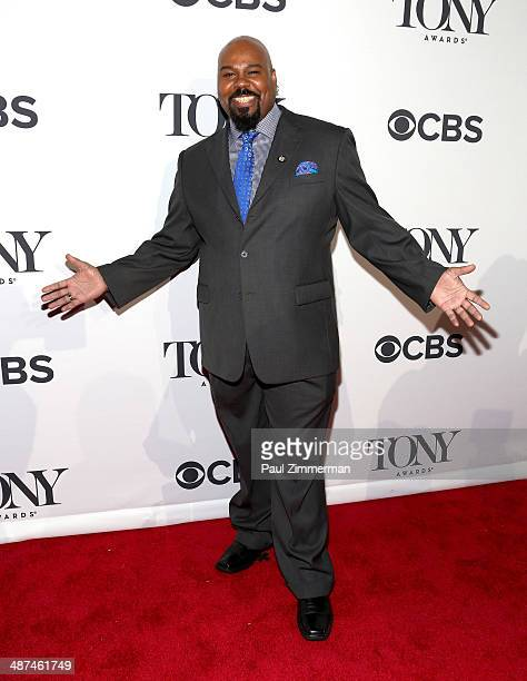 Actor James Monroe Iglehart nominee for Best Performance by an Actor in a Featured Role in a Musical for 'Aladdin' attends the 2014 Tony Awards Meet...
