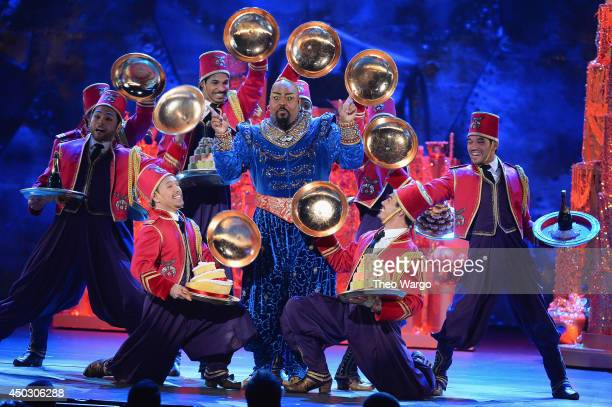 Actor James Monroe Iglehart performs a scene from 'Aladdin' onstage during the 68th Annual Tony Awards at Radio City Music Hall on June 8 2014 in New...