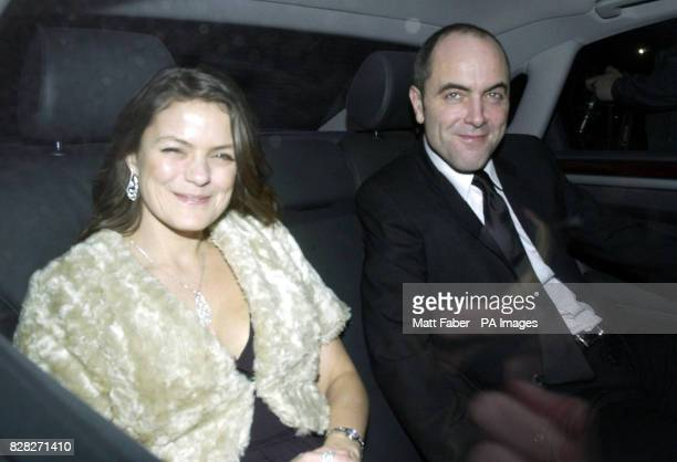 Actor James Nesbitt and his wife Sonia arrive at the reception party for Sir Elton John and David Furnish at their Old Windsor mansion Wednesday...
