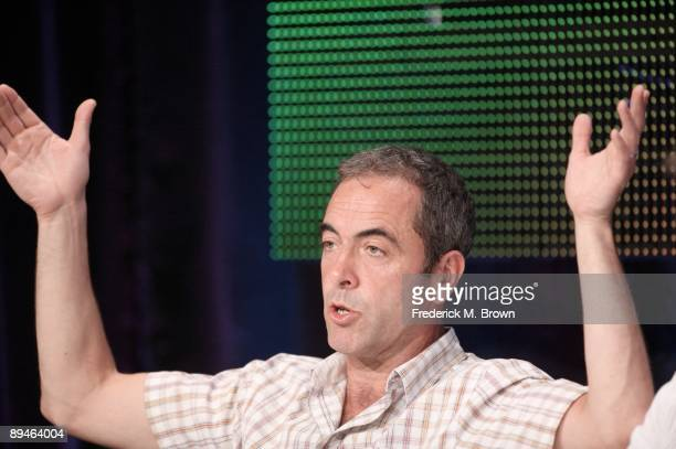 """Actor James Nesbitt of the television show """"Occupation"""" speaks during the BBC America portion of the 2009 Summer Television Critics Association Press..."""