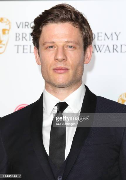 Actor James Norton one of the citation readers seen during the Virgin Media BAFTA Television Awards 2019 Press Room at The Royal Festival Hall