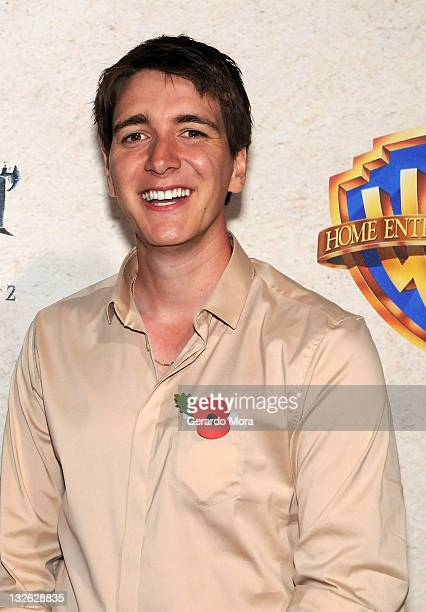 Actor James Phelps arrives at the Harry Potter and the Deathly Hallows Part 2 Celebration at Universal Orlando on November 12 2011 in Orlando Florida