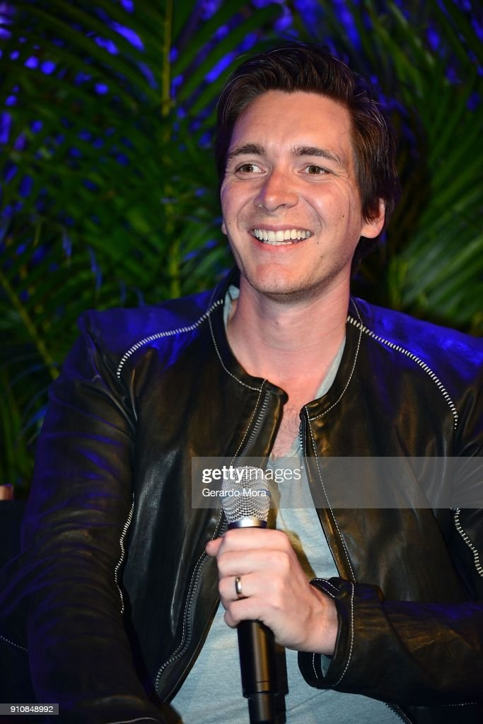 Actor James Phelps smiles during a Q&A session at the annual 'A Celebration of Harry Potter' at Universal Orlando on January 26, 2018 in Orlando, Florida.