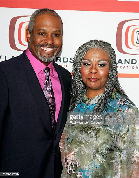 Actor James Pickens Jr. And guest arrive at the 2006 TV Land Awards held in Santa Monica.