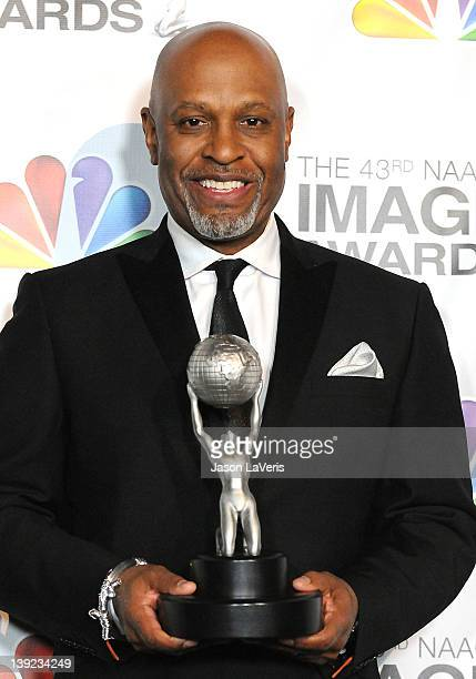 Actor James Pickens Jr poses in the press room at the 43rd annual NAACP Image Awards at The Shrine Auditorium on February 17 2012 in Los Angeles...