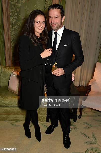 Actor James Purefoy and Jessica Adams attend The Academy Of Motion Pictures Arts Sciences new members reception hosted by Ambassador Matthew Barzun...