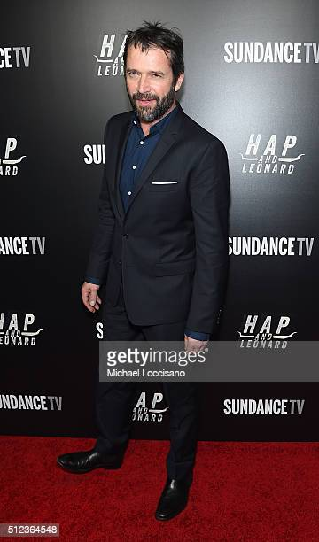 Actor James Purefoy attends SundanceTV's 'Hap and Leonard' Premiere Party at Hill Country Barbecue Market on February 25 2016 in New York City